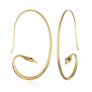 Satya Gold Snake Hoops