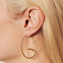 Load image into Gallery viewer, Satya Gold Snake Hoops
