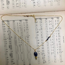 Load image into Gallery viewer, Madame Annie Sodalite & Vintage Bead Necklace