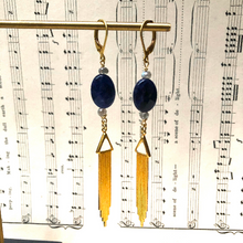 Load image into Gallery viewer, Madame Annie Sodalite Drop Earrings