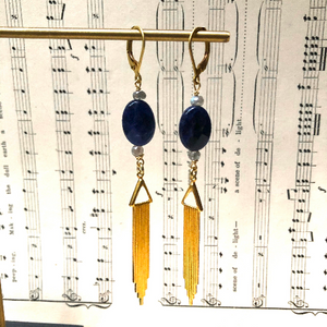 Madame Annie Sodalite Drop Earrings