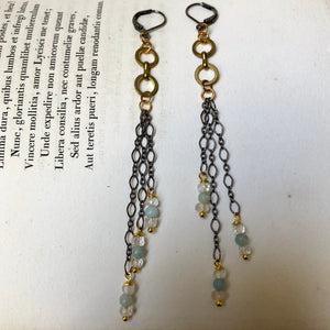 Madame Annie Triple Chain Earrings