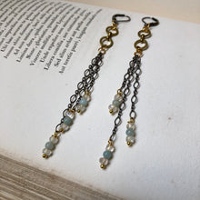 Load image into Gallery viewer, Madame Annie Triple Chain Earrings
