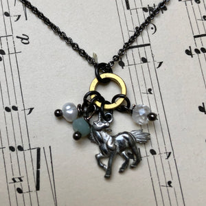 Madame Annie Unicorn Charm Necklace