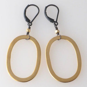 Deana Rose Gold Vermeil Oval Earrings