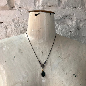 Madame Annie Y Filigree Labradorite Necklace
