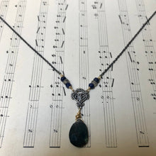 Load image into Gallery viewer, Madame Annie Y Filigree Labradorite Necklace