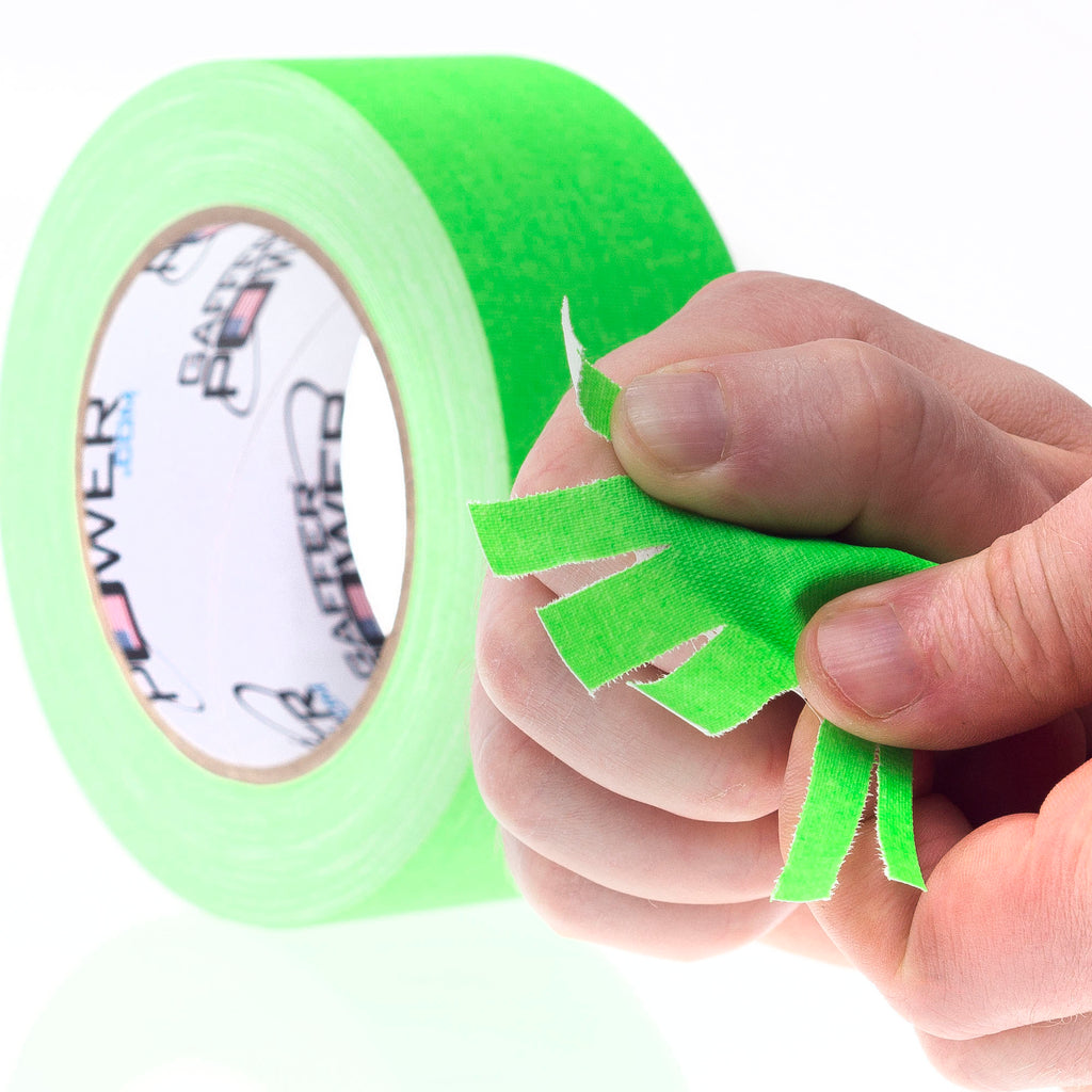 Gaffer Power Green Fluorescent Gaffer Tape Size - 2 inch x 30 yards