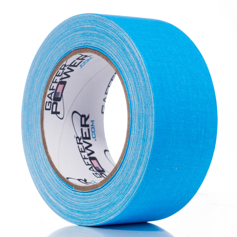 Gaffer Power Gaffer Tape, 2 Inch x 30 Yards - Fluorescent Blue
