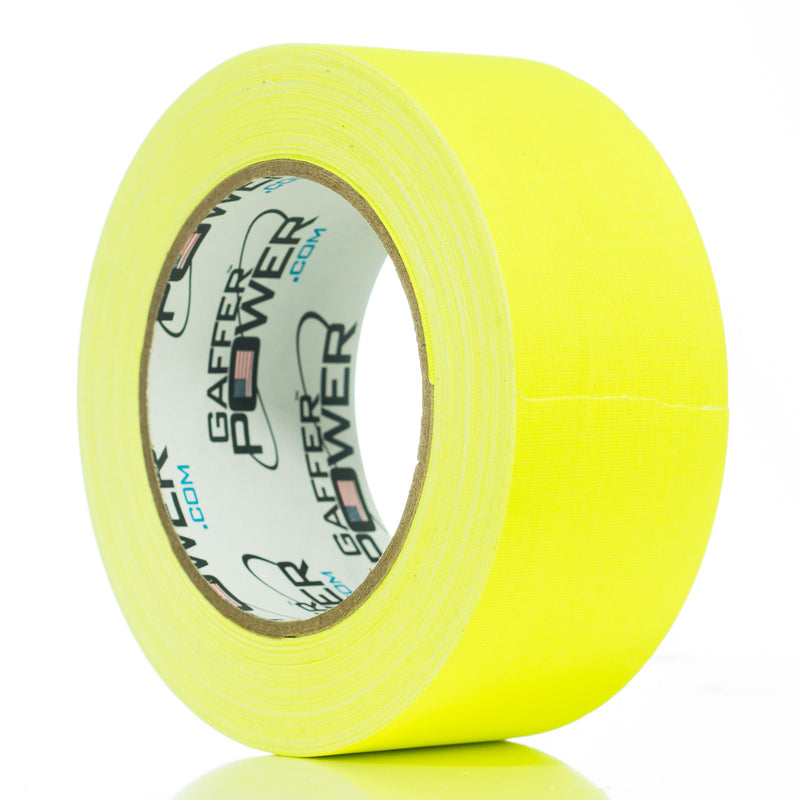 Gaffer Power Gaffer Tape, 2 Inch x 30 Yards - Fluorescent Yellow