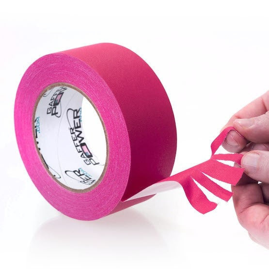 Gaffer Power Pink Fluorescent Gaffer Tape - 2 inch x 30 yards