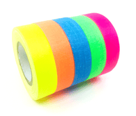 Gaffer Power Spike Tape, Multi-Color 5-Rolls, 1/2 In x 6 Yds