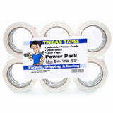 Clear Packing Tape, 6-Pack Power Grade, Strongest Tape on the Market, 3.2 Mil Though & Thick