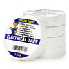 Electrical Tape - White Vinyl Electric Tape (5 Pack)