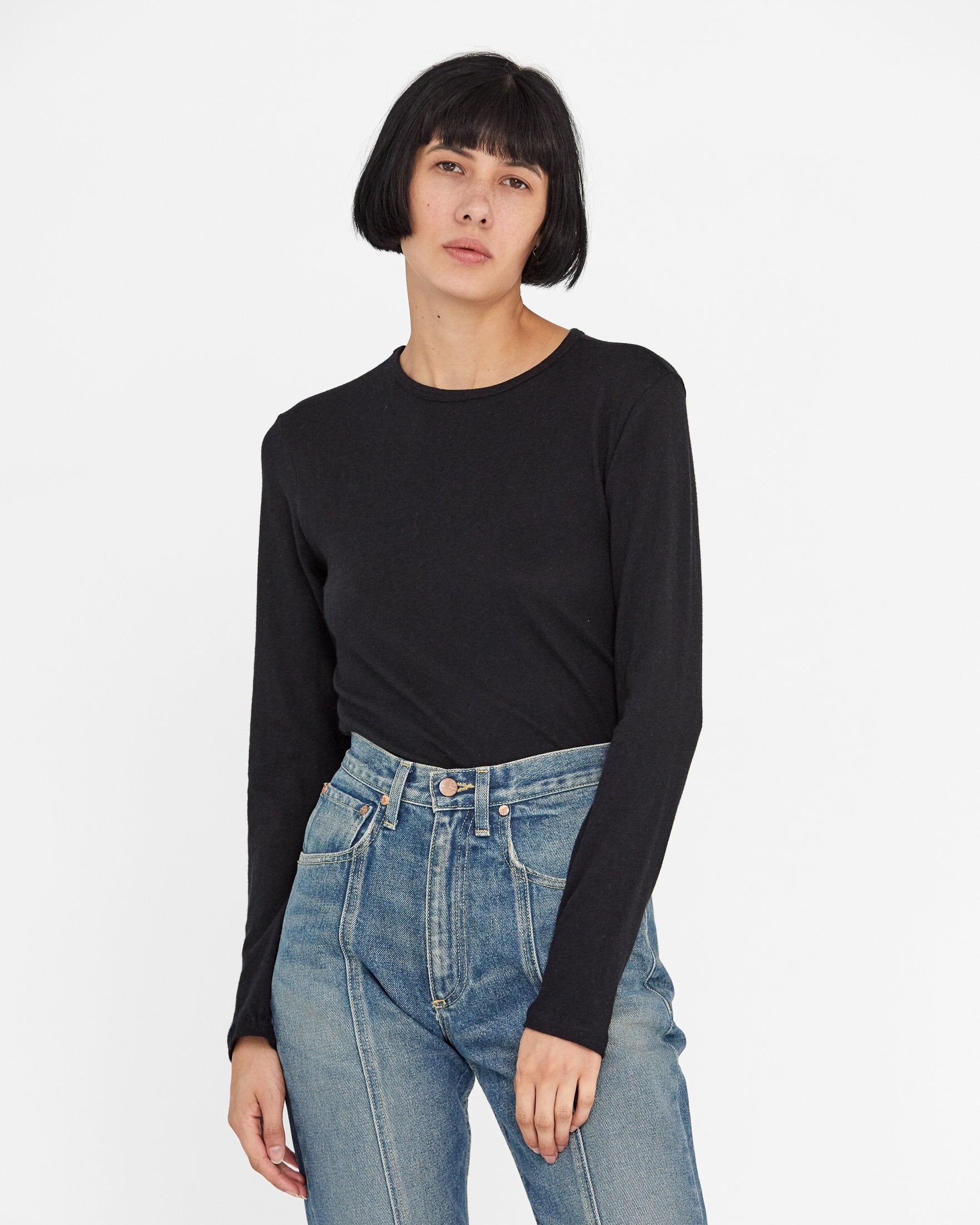 Shea Cashmere Knit in Black