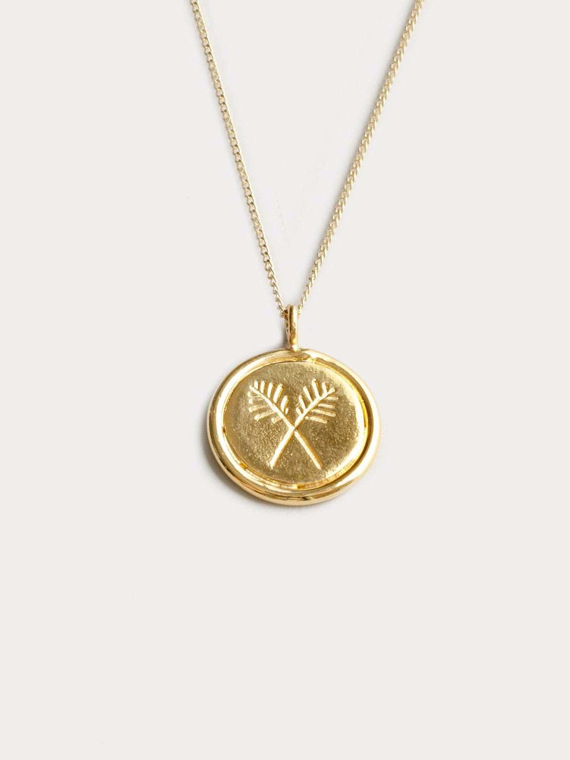 Palms Necklace in Gold