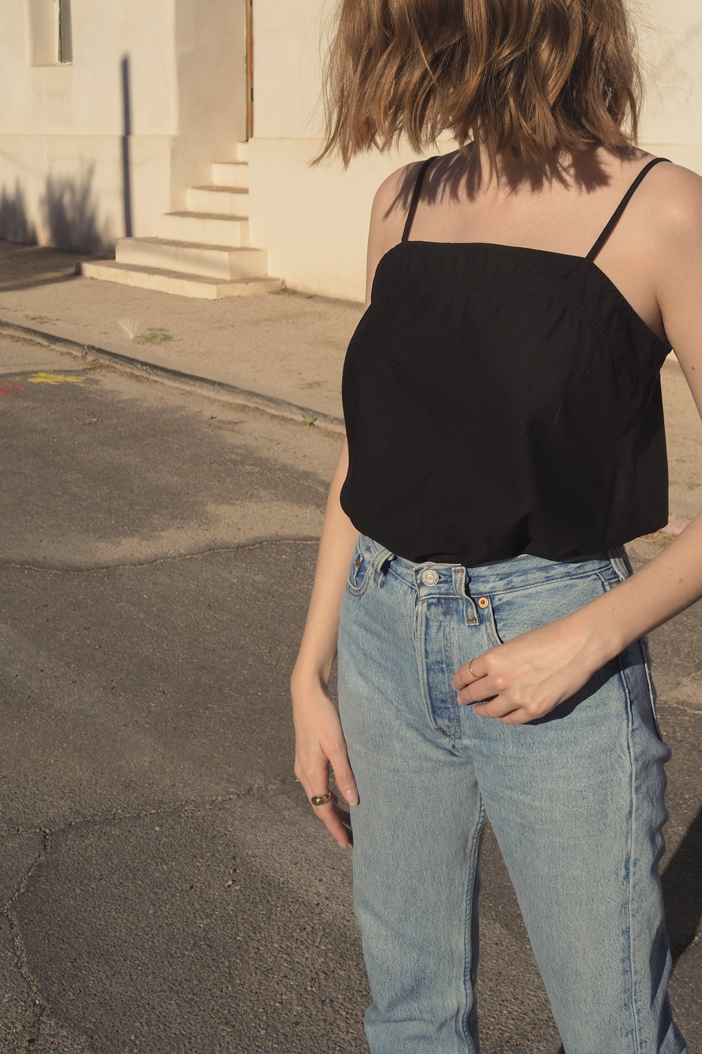 Square Top in Black