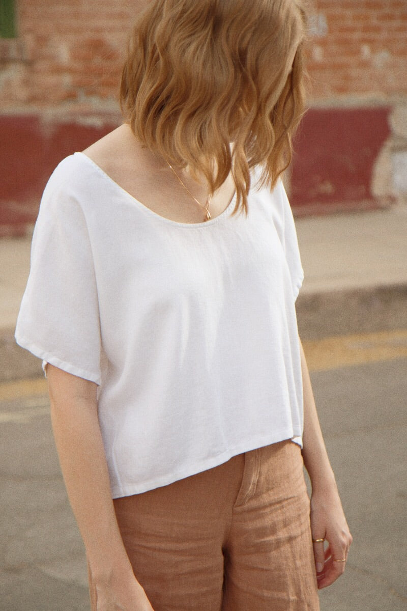 Me & Arrow Crop Top in White