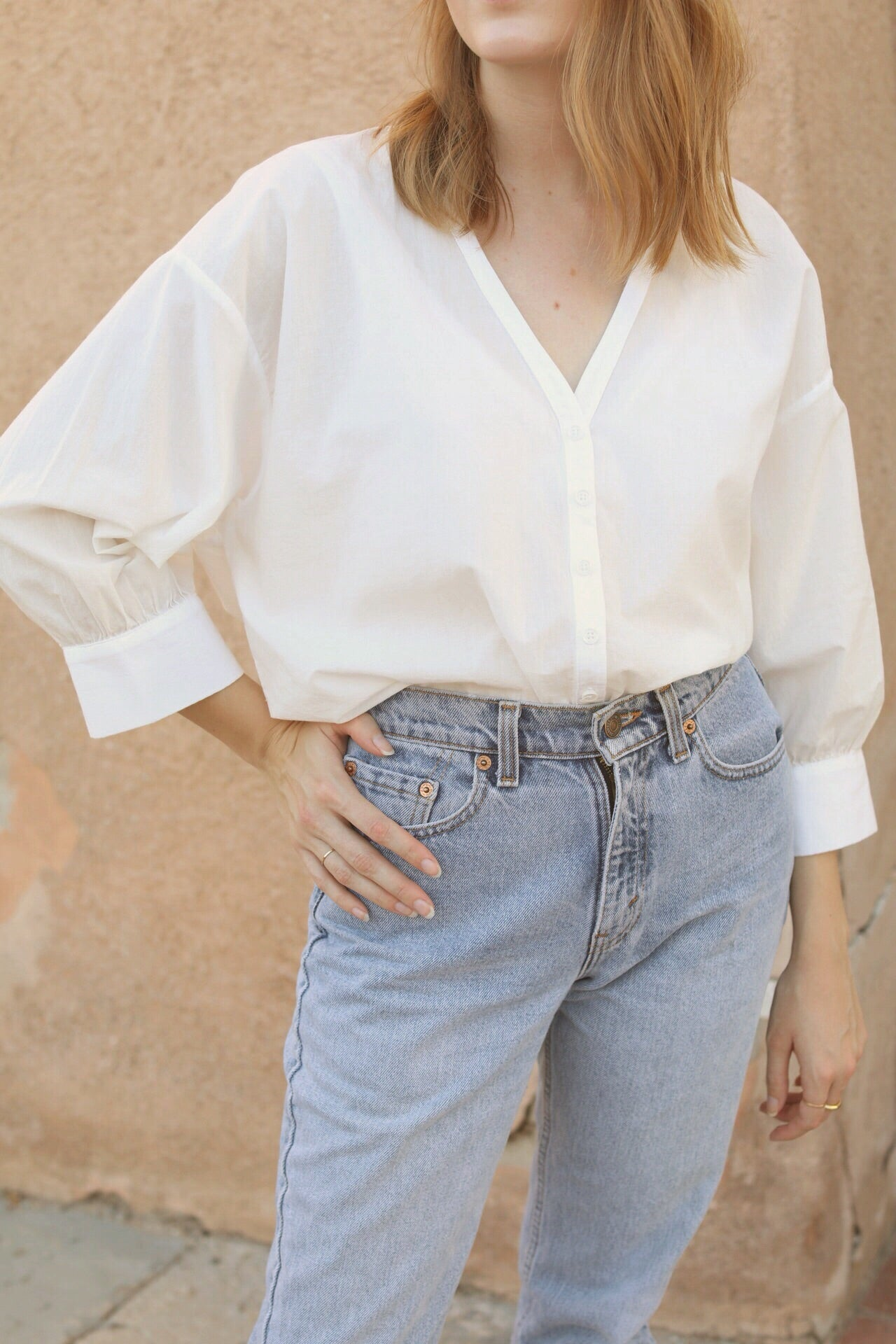 Lauren Prairie Blouse in White