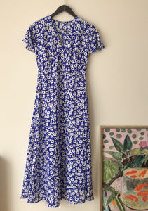 Floral blues dress