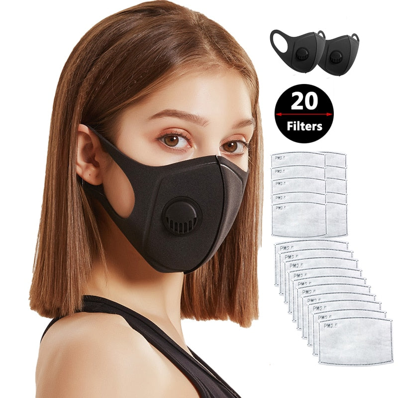 N95 Protective Mask for Dust, Smoke, Gas, Allergy - Adjustable, Reusable 20 Filters - Survivalways