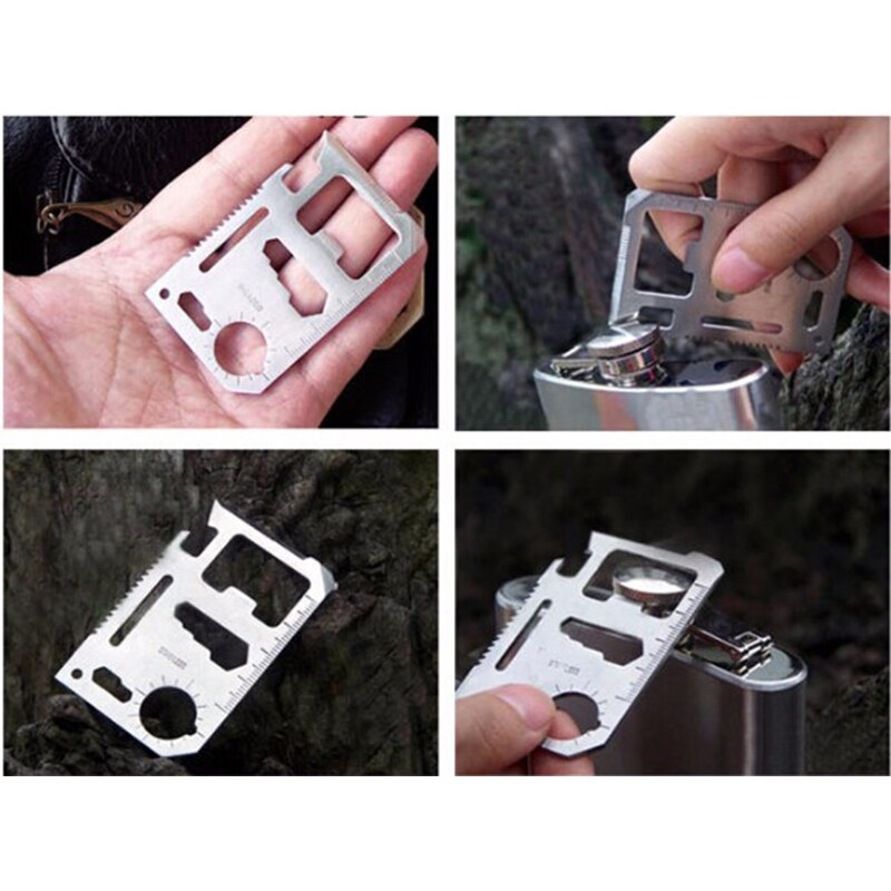 Swiss Card 12 in 1 in Stainless steel - Survivalways