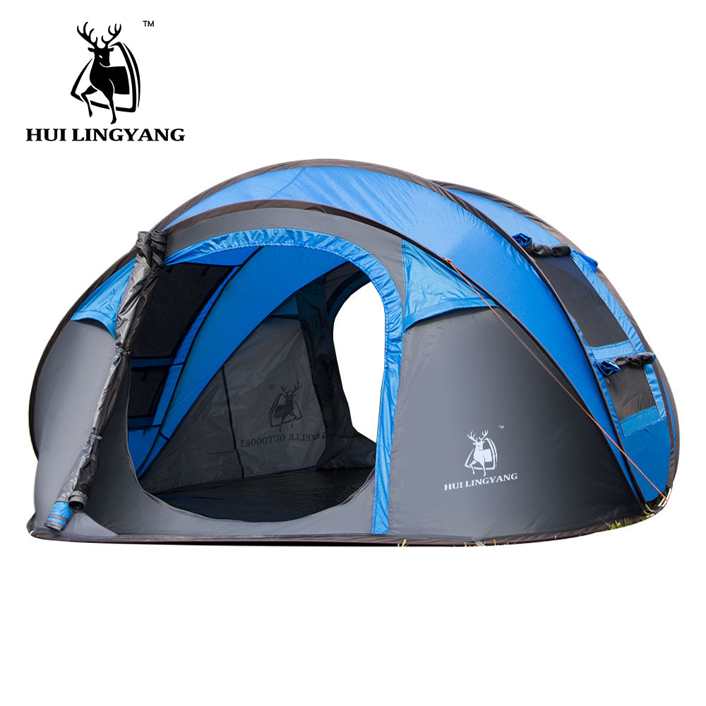 Pop-Up Automatic Family Tent - Windproof Camping (3-4 Persons) - Survivalways