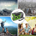 Load image into Gallery viewer, Solar Radio AM/FM - Hand Crank, LED Flashlight 2000mAh, Outdoor, Power Bank USB Charger - Survivalways
