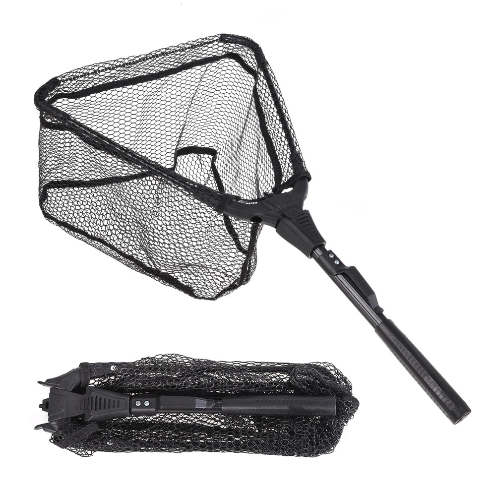 Portable Triangular Folding Fish Landing Net - Survivalways