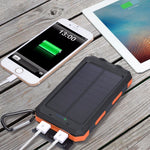 Load image into Gallery viewer, Waterproof Solar Power Bank - 20000 mAh, Dual USB, Battery Charger - Survivalways