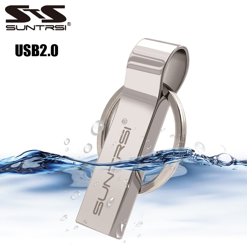 Metal USB Flash Drive - 128GB, 64GB, 32GB, USB stick, Metal Key Chain, High Speed, Waterproof - Survivalways