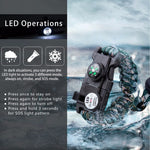 Load image into Gallery viewer, Military Survival Bracelet - SOS LED, Paracord, Compass, Whistle, Knife - Survivalways