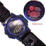 Load image into Gallery viewer, Survival Watch - Night Vision, 50M Waterproof, Paracord, Knife, Compass, Thermometer, Whistles - Survivalways