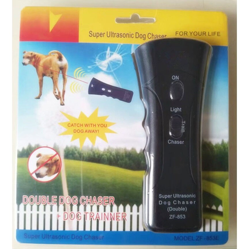 Self Defense Ultrasonic Dog Chaser - Stops Animal Attacks, LED - Survivalways