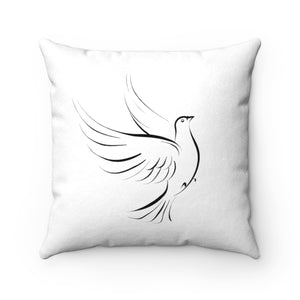 Official The Peace Dealer Faux Suede Square Pillow - The Peace Dealer