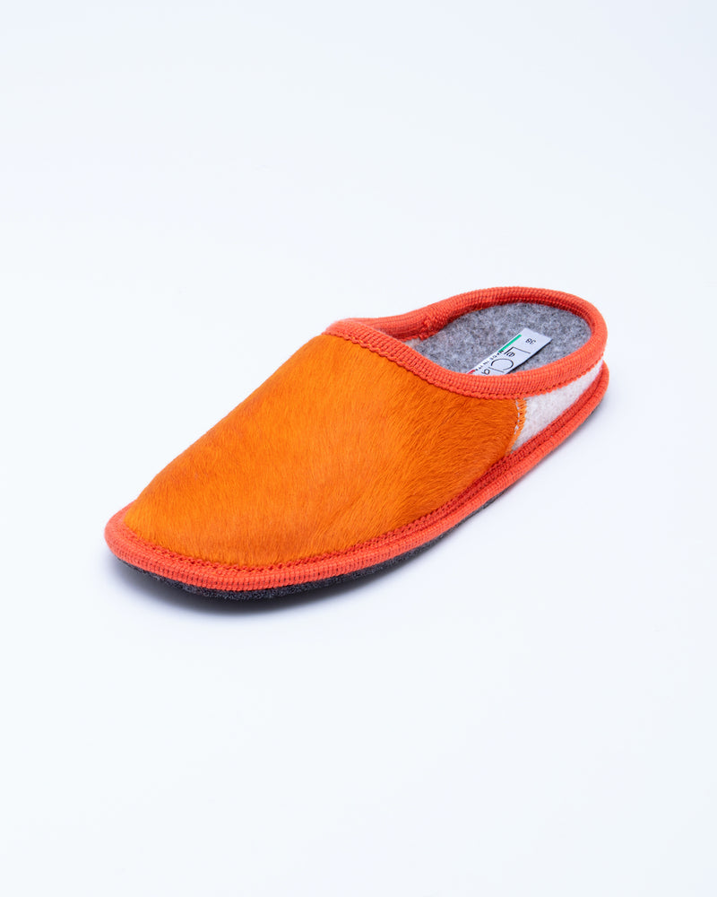 Women's Nuvola Cavallino Slipper Orange Pony Hair