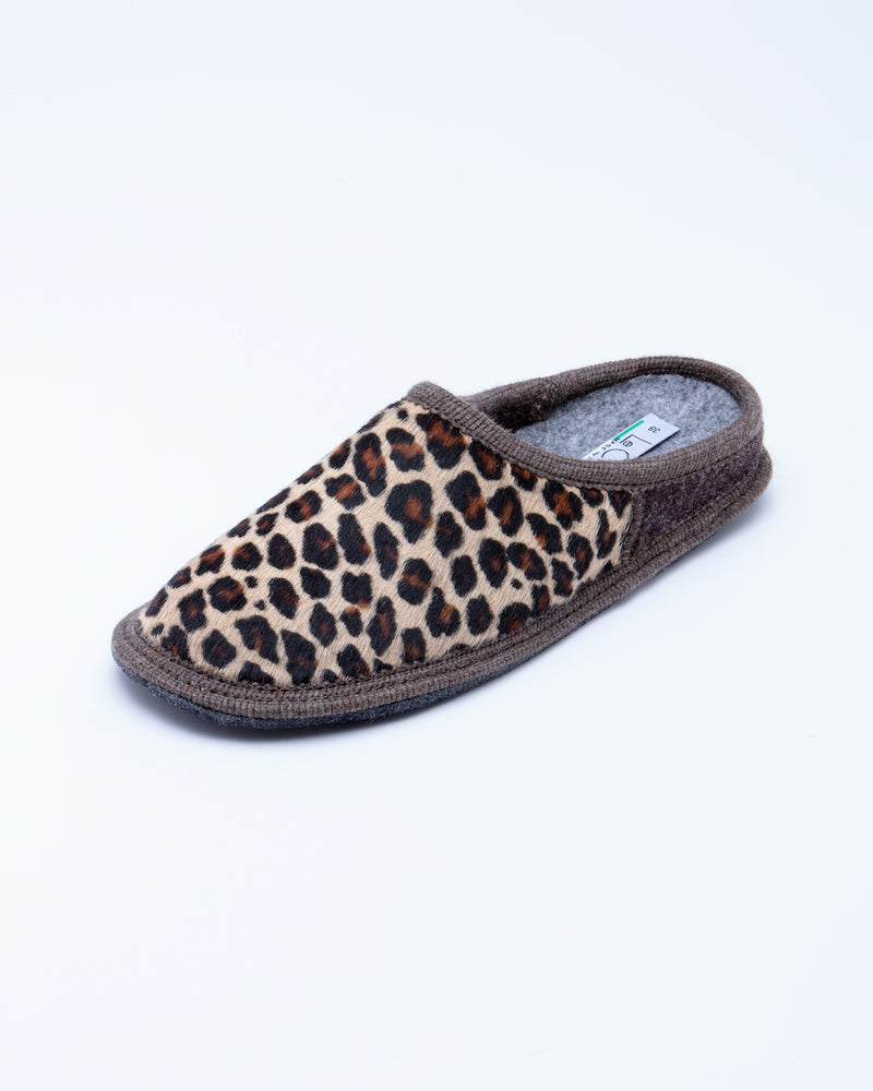 Women's Nuvola Cavallino Slipper Leopard Pony Hair