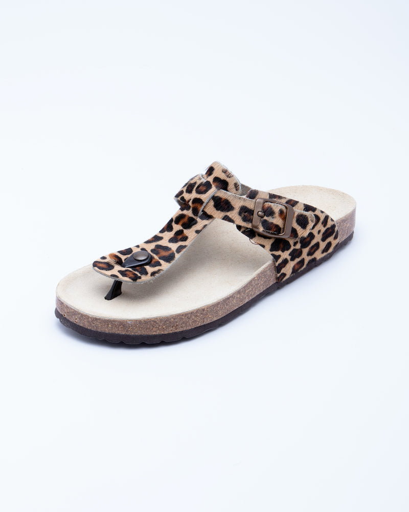 Women's Lilly Thong Sandal Leopard Pony