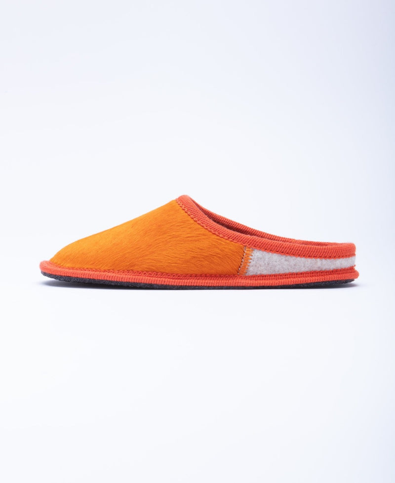 Men's Nuvola Cavallino Slipper Orange Pony