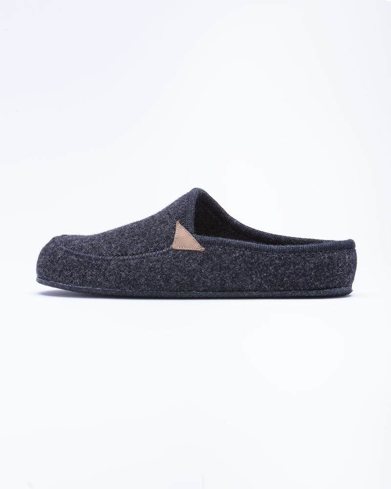 Men's Casies Wool Felt Mule Slipper Charcoal