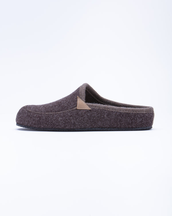 Men's Casies Wool Felt Mule Slipper Brown