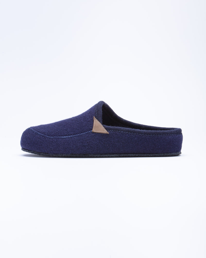 Men's Casies Wool Felt Mule Slipper Navy