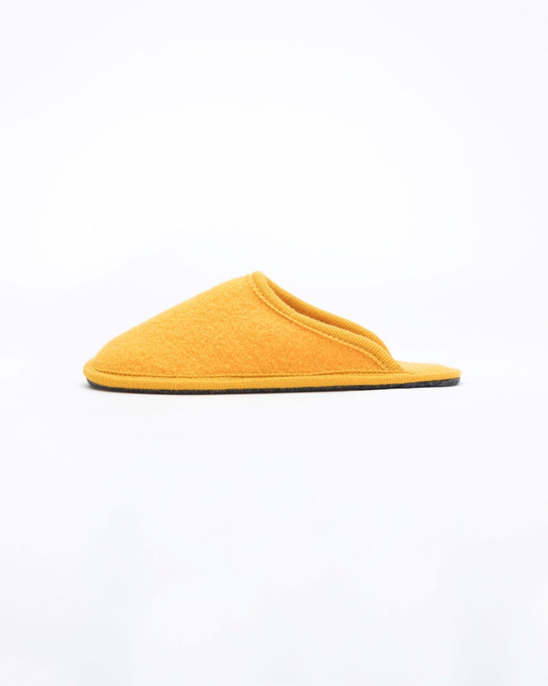 women's yellow le clare stella boiled wool hotel house slipper