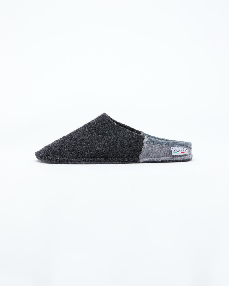 Women's Nuvola Bico Wool Slipper Charcoal