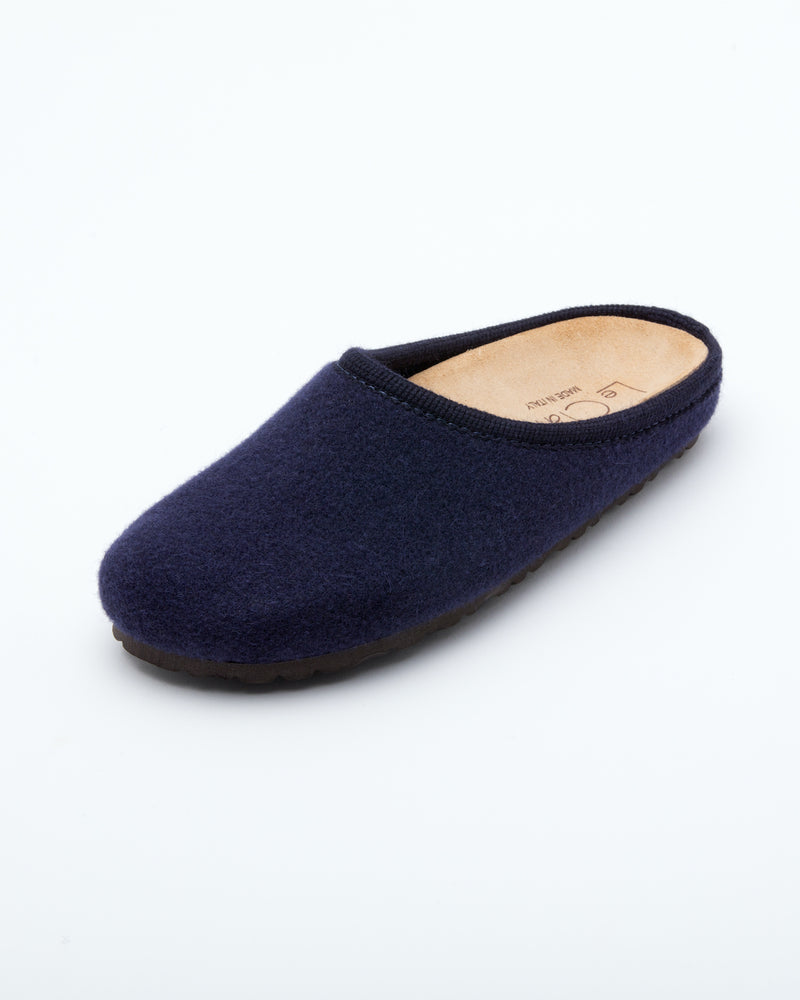 Women's Nebraska Wool Clogs Navy