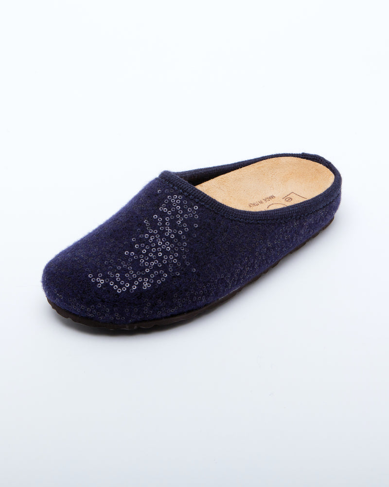 Women's Nebraska Shine Clogs Navy