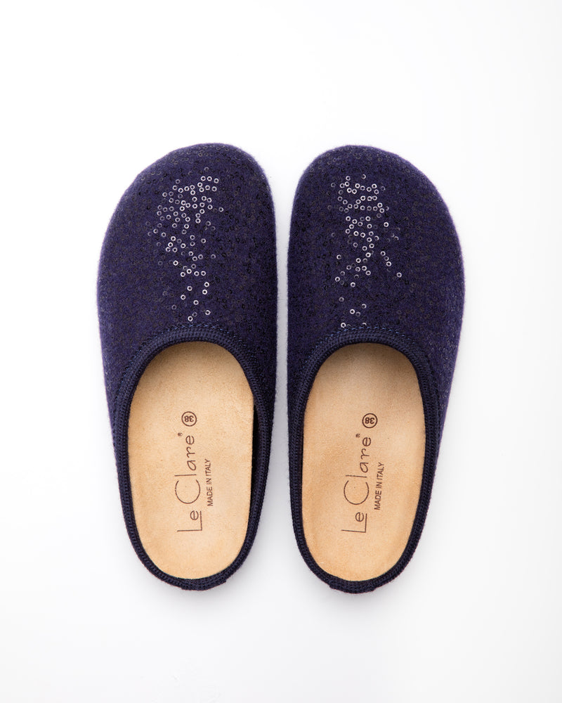 Le Clare Women's Shine sequined wool clog