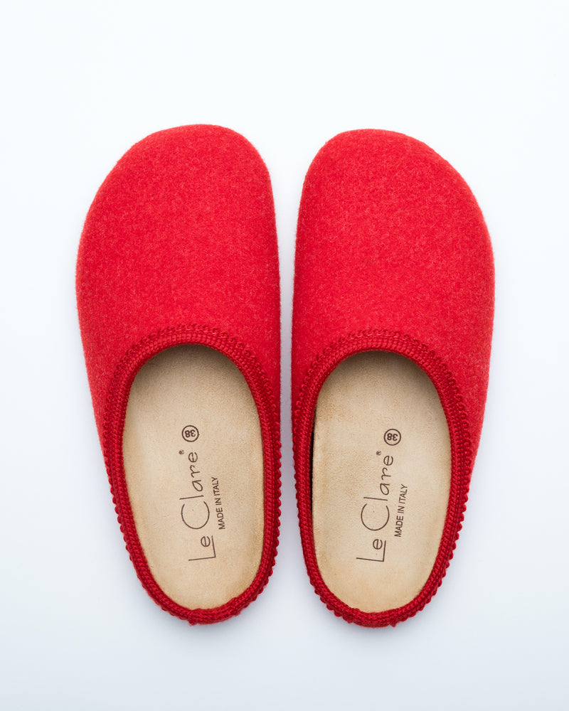 Women's Nebraska Wool Clogs Red