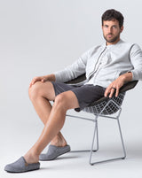 Le Clare Casies Men's Wool Felt House Slippers ad campaign