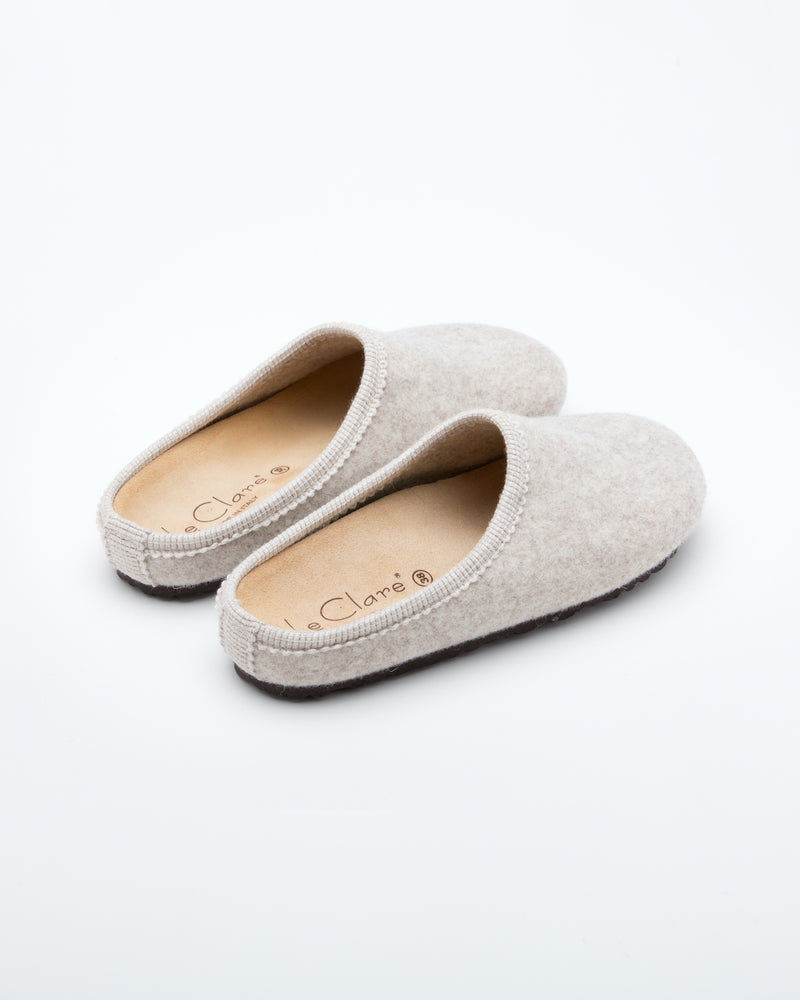 Women's Nebraska Wool Clogs Beige